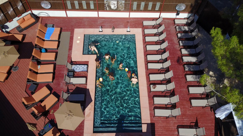 Now enjoy the fresh curative spring water nude pool and European style tanning spas for the most awarded VIP day in California - A true very up scale safe, clean, no pressure experience - Sip your drinks by the pool clothes free as the sun heats your body - Watch the stars in nude bliss or party hearty at the only nude resort facility that lets you be you - a VIP resort that caters to Females and couples only - The only experience in California or the USA of it's kind. Nude or prude, it's a safe and fun environment. Our guests are from all over the world.